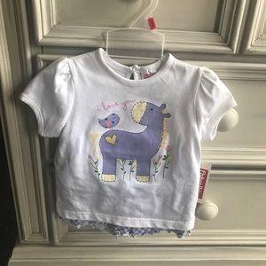 NWT baby girl matching shirt and shorts set